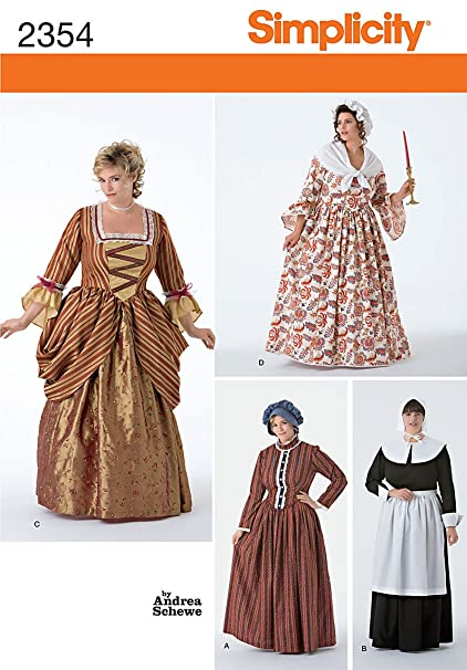 Amazon Simplicity Sewing Pattern 40 Plus Size Costumes FF Awesome Plus Size Sewing Patterns