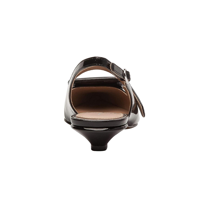 New Spring Linea Paolo Capri Kitten Heel Slingback Modern Wrapped Metal Ornament