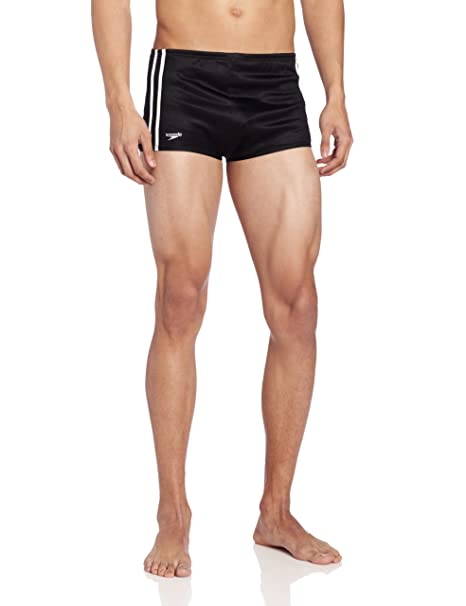 Amazon.com: Speedo de los hombres Nylon Rayas Square Leg ...