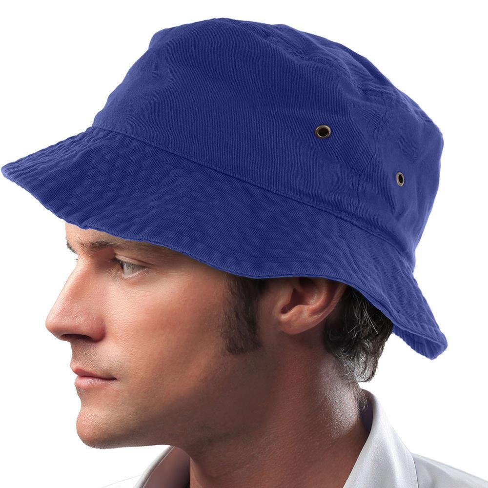 Easy-W Blue 100% Cotton Hat Cap Bucket Boonie Unisex by Easy-W (Image #1)