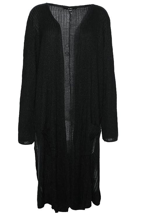 X Two Blaze Cardigan Strickjacke Gehrock Jacke Plusgröße Lagenlook Mohair Optik