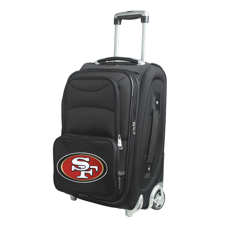 NFL San Francisco 49ersインラインスケートホイール機内持ち込み荷物、21-inch、ブラック B00NV4J3VE