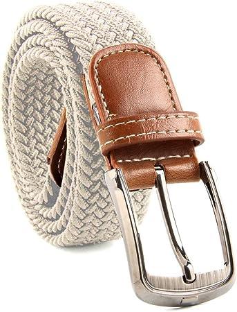 MultiWare Elasticated Woven Belt Stretch Belt For Men Beige