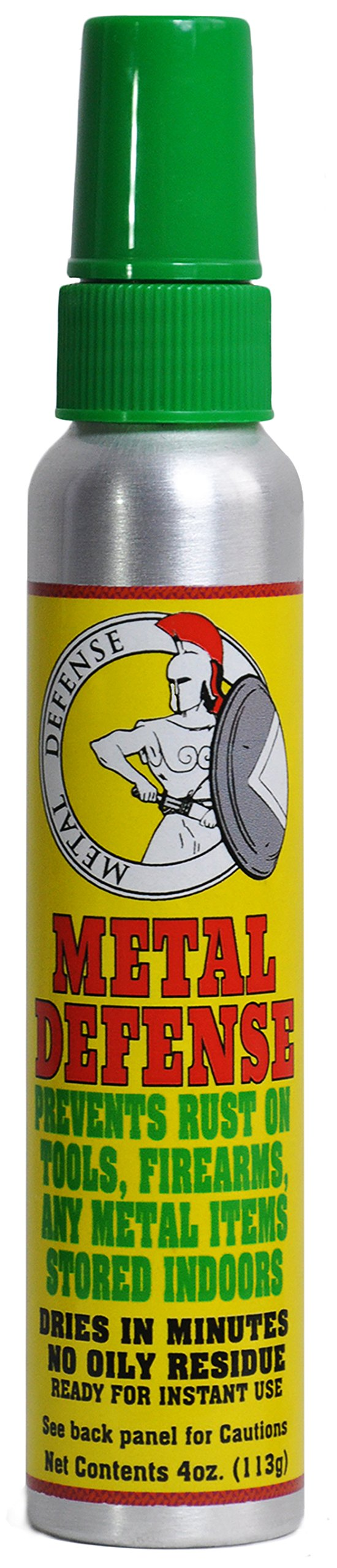 Metal Defense | Prevents Rust on Tools, Firearms, Any Metal Items Stored Indoors | Quick Drying Formula (Single 4 oz. Can)