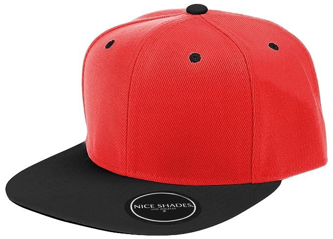 L.O.G.A. Plain Adjustable Snapback Hats Caps (Many Colors). Red Black 08c1def0fce