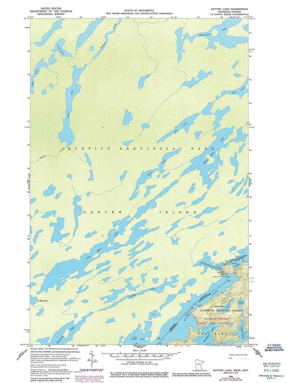 Ontario Topographic Map.Amazon Com Minnesota Maps 1959 Dutton Lake Mn Usgs Historical