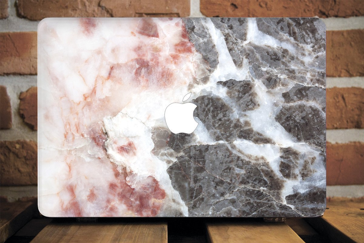 WolfCase Full Cover Clear Shell Case for Apple Macbook Air 13 11 Apple Pro 13 15 2016 2017 Hard Cover Macbook 12 inch Mac Pro Retina 15 13 Pink Grey Quarz Marble, AW2130 71VSp8-BCIL