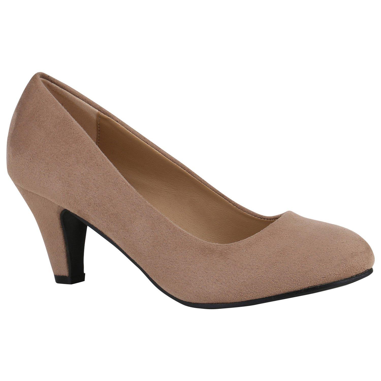 Stiefelparadies Damen Klassische Pumps Flandell Khaki2018 Letztes Modell  Mode Schuhe Billig Online-Verkauf