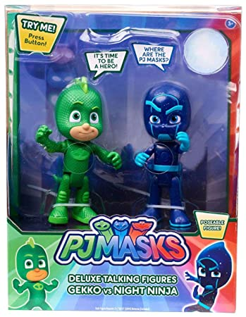 PJ Masks Deluxe Talking Figures Gekko vs Night Ninja