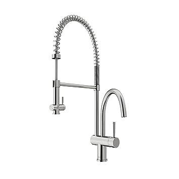 VIGO Dresden Pull Down Spray Kitchen Faucet, Stainless Steel