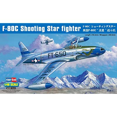 Hobby Boss F-80C Shooting Star Airplane Model Kit: Toys & Games [5Bkhe1003869]