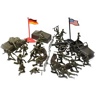 Rothco World War II Toy Soldiers Childrens Military Play Set: Toys & Games