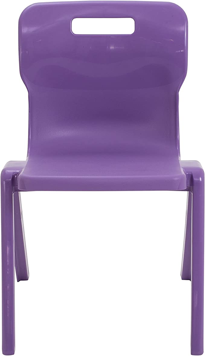 Size 1 for Ages 1-2 Years Purple Titan One Piece Classroom Chair Plastic