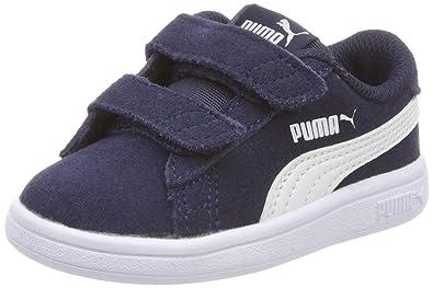 Puma Unisex Baby Smash v2 L V Inf Sneaker, Blau White-Peacoat, 25 EU