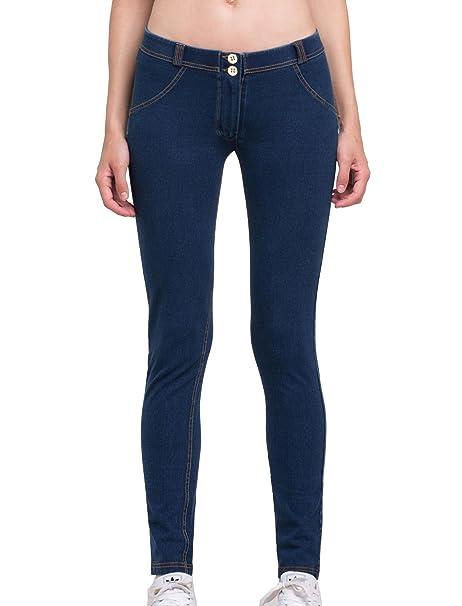 Cody Lundin moda de la mujer Pantalones vaqueros de cintura ...