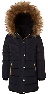 171659855 Amazon.com  Richie House Big Girls  Padded Winter Jacket with Belt ...