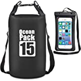 MALELION Waterproof Dry Bag - Roll Top Dry Compression Sack Keeps Gear Dry for Kayaking, Beach, Rafting, Boating, Hiking, Camping, Swimming, Floating and Fishing with Waterproof Phone Case