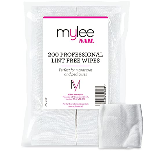 Mylee Toallitas Libres de Pelusa Paquete de 200 NUEVO 100% Toallitas 100% sin Pelusa Limpiadoras de Uñas: Amazon.es: Belleza