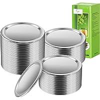 100 tapas de tarros de 70 mm, a prueba de fugas, almacenamiento seguro, tapas sólidas para tarros con juntas de silicona…