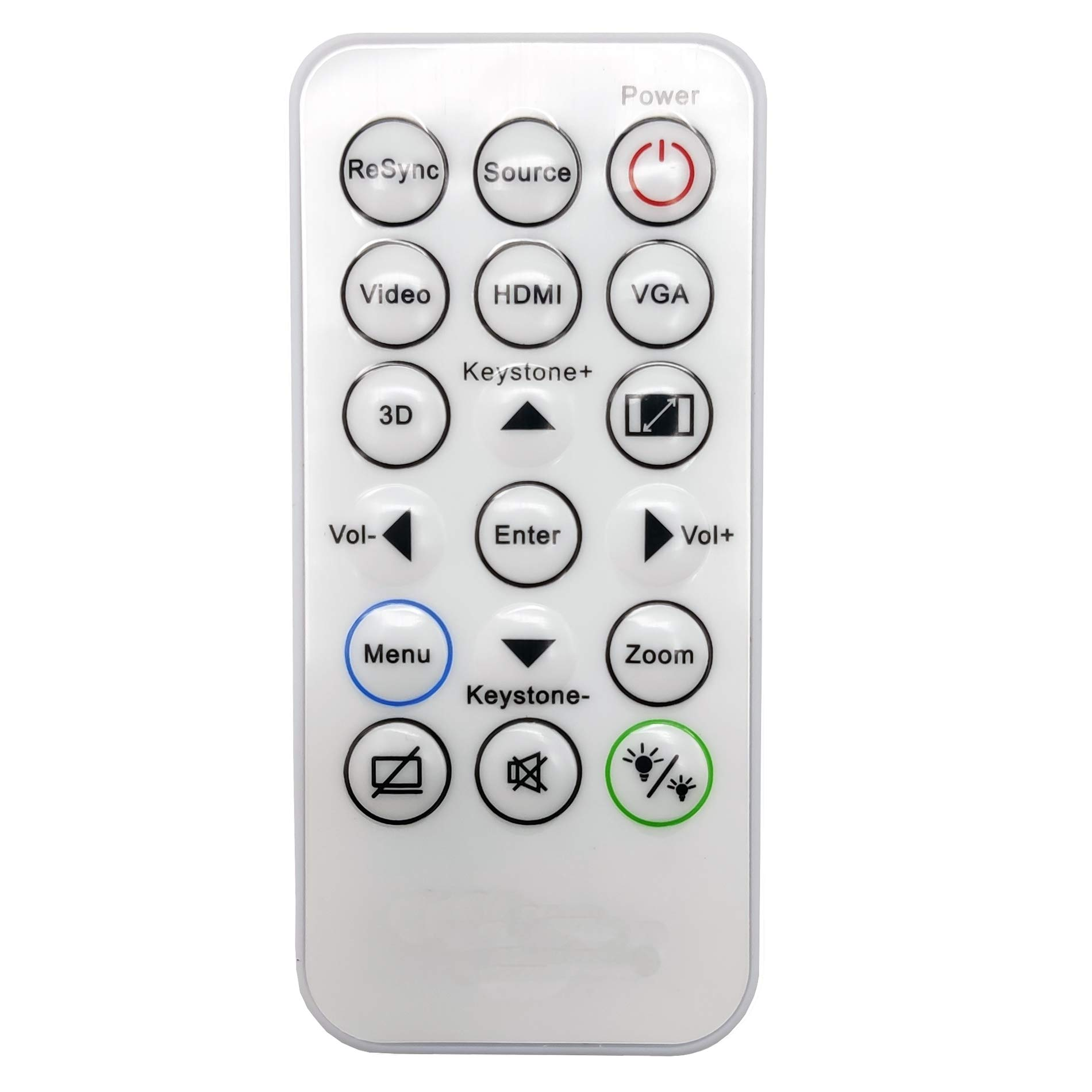 InTeching IR29033 Projector Remote Control for InFocus INA-REMPJ001, IN110v, IN110xa, IN110xv Series IN112v, IN114v, IN116v, IN112xa, IN114xa, IN116xa, IN112xv, IN114xv, IN116xv by INTECHING