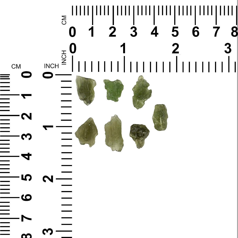 V/éritable Moldavite brut petit de 2-4 carats une pi/èce