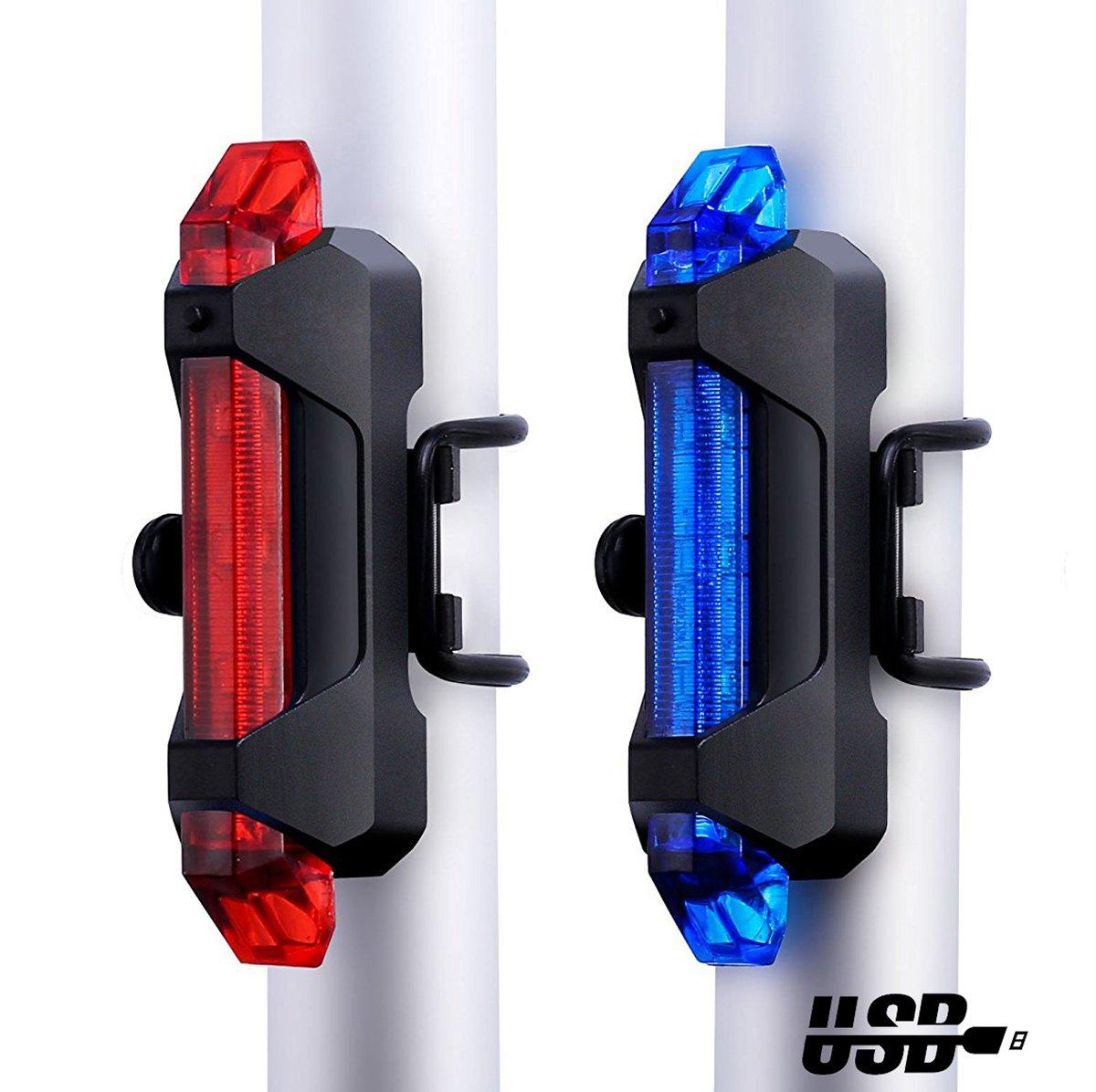 intermitente//Iluminaci/ón de alta//ba vimmor 2/Pack USB recargable LED Bicicleta luces traseras Super brillante bicicleta luz trasera bicicleta seguridad luz potente para bicicleta faros traseros para 4/modos Bicicleta faros traseros para
