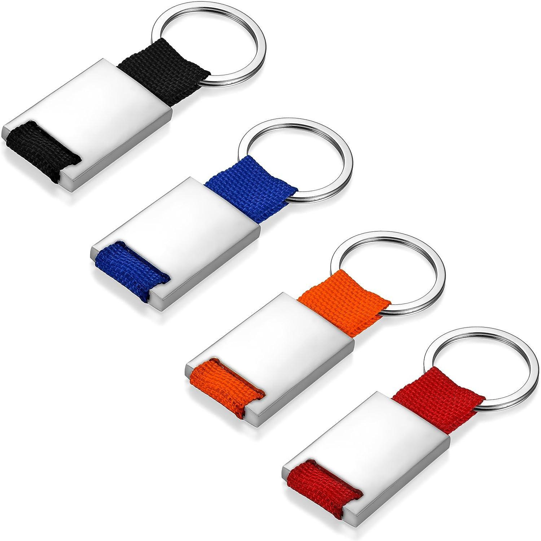 JewelryWe Llavero para Parejas DIY Llaveros para Grabar Personalizados Llaveros de Colores para Hombre Mujer 4 Piezas, Buen San Valentin: Amazon.es: Joyería