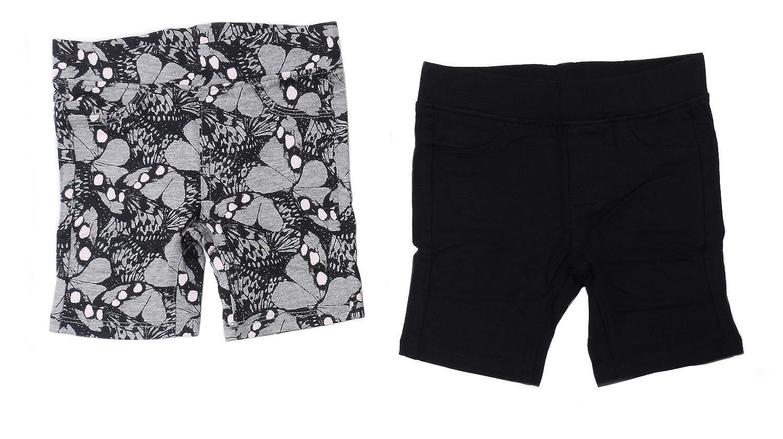 Black//Grey Vigoss Girls Size 3 French Terry Bermuda 2-Pack Shorts