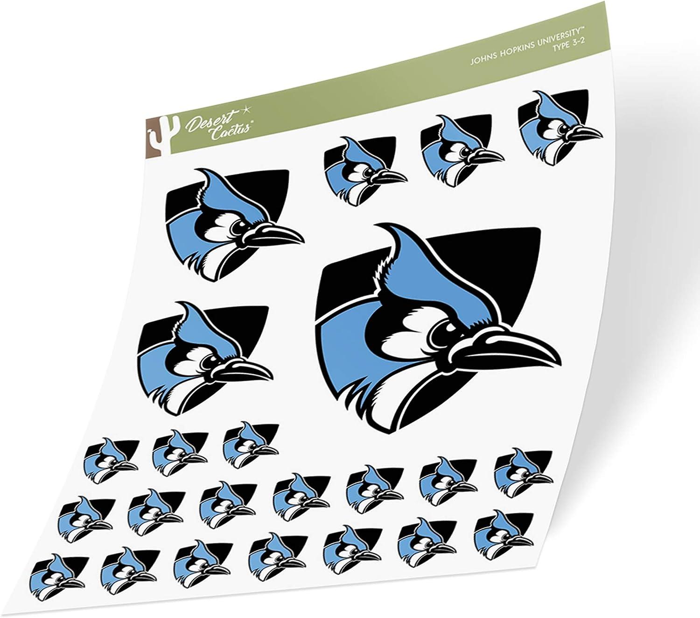 Johns Hopkins University JHU Blue Jays NCAA Sticker Vinyl Decal Laptop Water Bottle Car Scrapbook (Sheet Type 3-1)