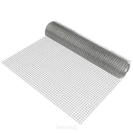 protec 1 rollo de malla de alambre cuadrados1m x 25m