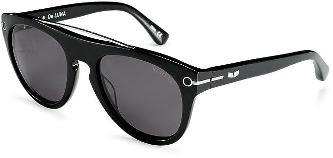 Amazon.com: Vestal de luna Ronda anteojos de sol, negro ...