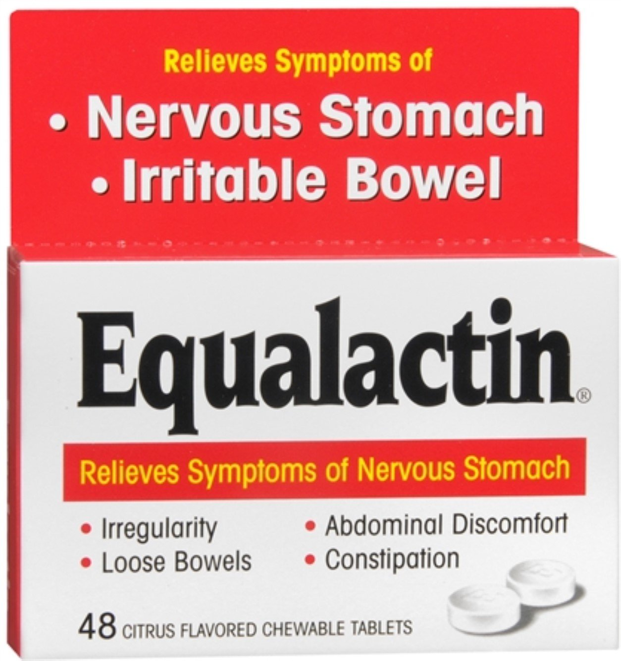 Equalactin Chewable Tablets 48 Tablets (Pack of 12) by Equalactin