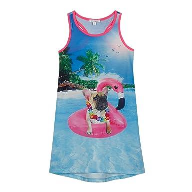 4e60d917f280 bluezoo Kids  Girls  Multi-Coloured Bulldog Print Vest Age 6-7 ...