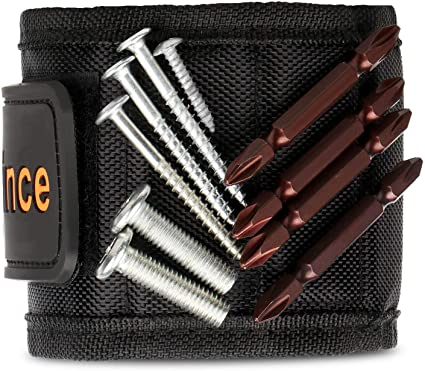 Black Magnetic Wristband Tools Tool Belt With 20 Strong Magnets for Holding Screws//Nails//Drill Bits Magnetic Wristband Gifts for Him//Men//Father//Dad//DIY Handyman//Electrician//Husband//Boyfriend