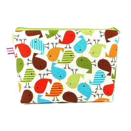 "Neceser/Bolsa para pañales sucios de tela diseño: ""pájaros"""