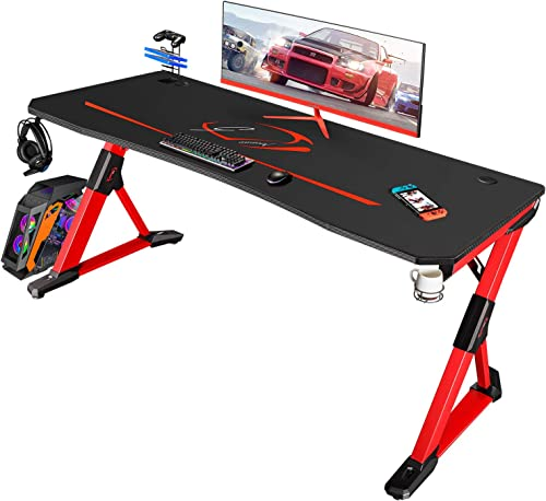 Homall 63 inch Gaming Desk Z Shaped Computer Desk Home Office Desk PC Gaming Table