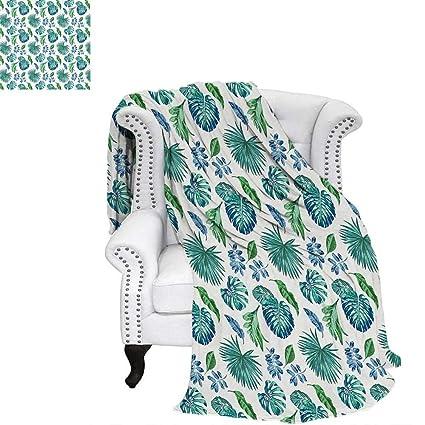 bbcf968036abe Amazon.com: WilliamsDecor Green Leaf Digital Printing Blanket ...
