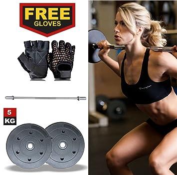 highy calidad relleno de arena de plástico ejercicio gimnasio levantamiento de pesas Set Platos x2 (
