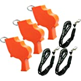 Storm World's Loudest Outdoor, Emergency, Safety, Marine, Police, Underwater, Survival Whistle | 3pk Bundle + Koala Lanyards