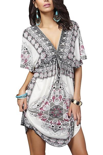 brand new c22e0 2e53c YAOMEI Vestiti estivi da Donna Casual, Maniche corte T-Shirt ...