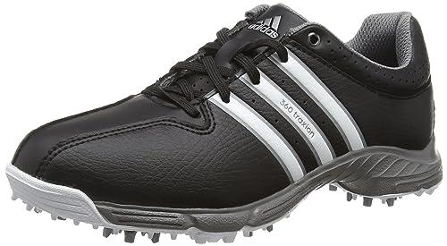 finest selection 2c857 dd158 adidas 360 Traxion Unisex Kids  Golf Shoes Black (Core Black White Iron
