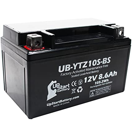 Replacement 2007 Yamaha YZF-R1 1000CC Factory Activated, Maintenance Free,  Motorcycle Battery - 12V, 8 6Ah, UB-YTZ10S-BS