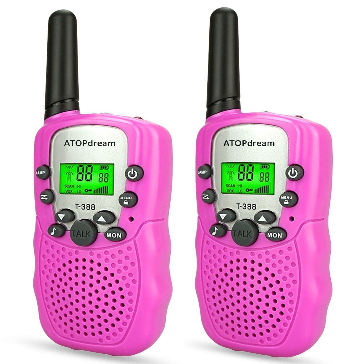 TOP Gift Toys for 3-12 Year Old Girls, Handheld Walkie Talkies for Kids 2 Mile Hunting Accessories 2018 Christmas New for Kids Boys Girls 3-12 Stocking Fillers Pink TGDJ06 by Dreamingbox