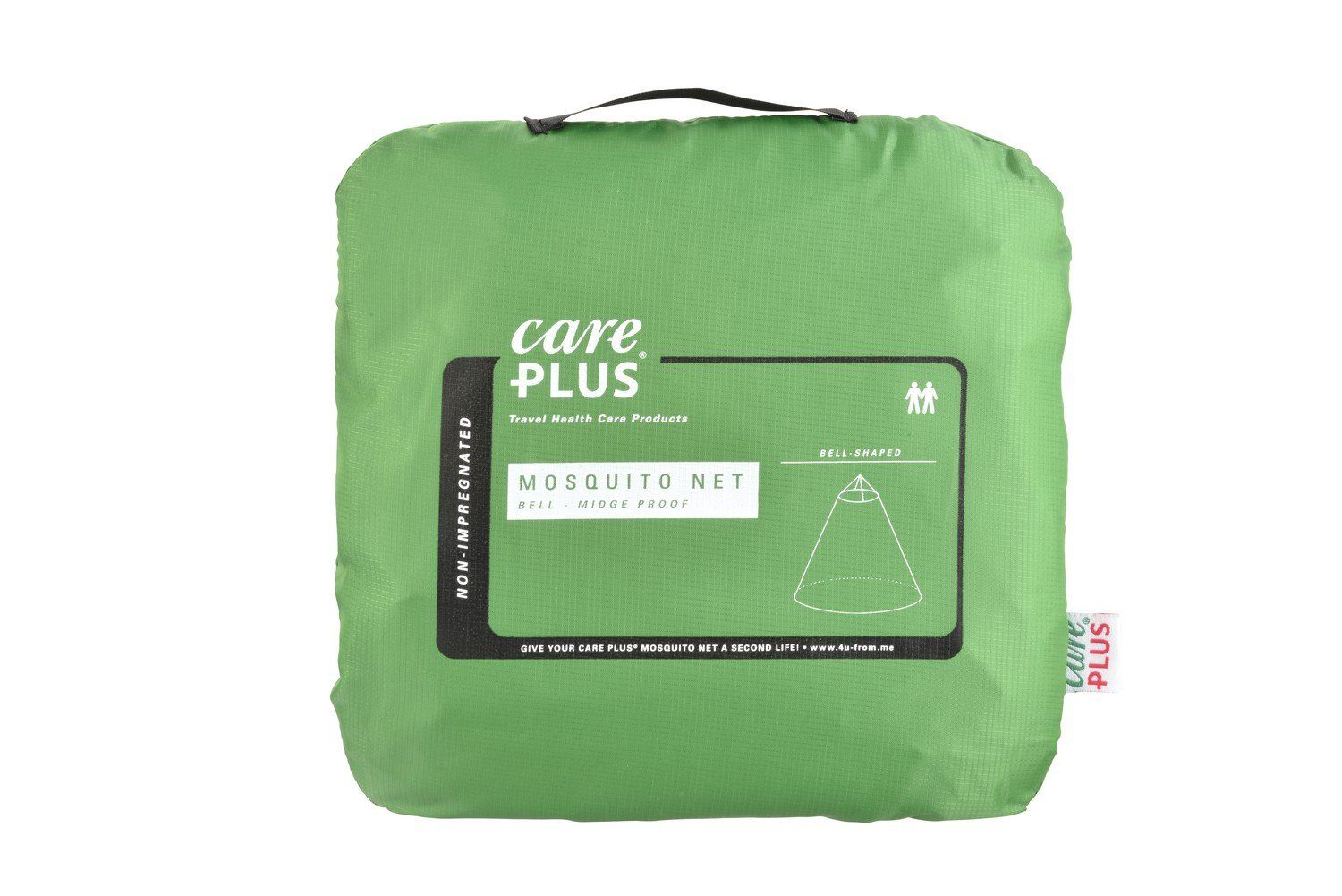 Care Plus Midge-Proof Bell-Shaped Unimpregnated Mosquito Net for 2/People
