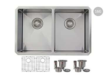 28 inch undermount kitchen sink double bowl with grids16 gauge 28 inch undermount kitchen sink double bowl with grids16 gauge stainless steel s workwithnaturefo