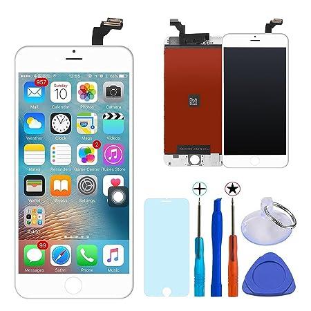 KXC ST Écran LCD Écran Tactile Et numérique Remplacement Pour montage Complet Avec Kit d'outils De Réparation (4.7 Pouces) et La Protection d'écran Pour iPhone 6 (blanc)