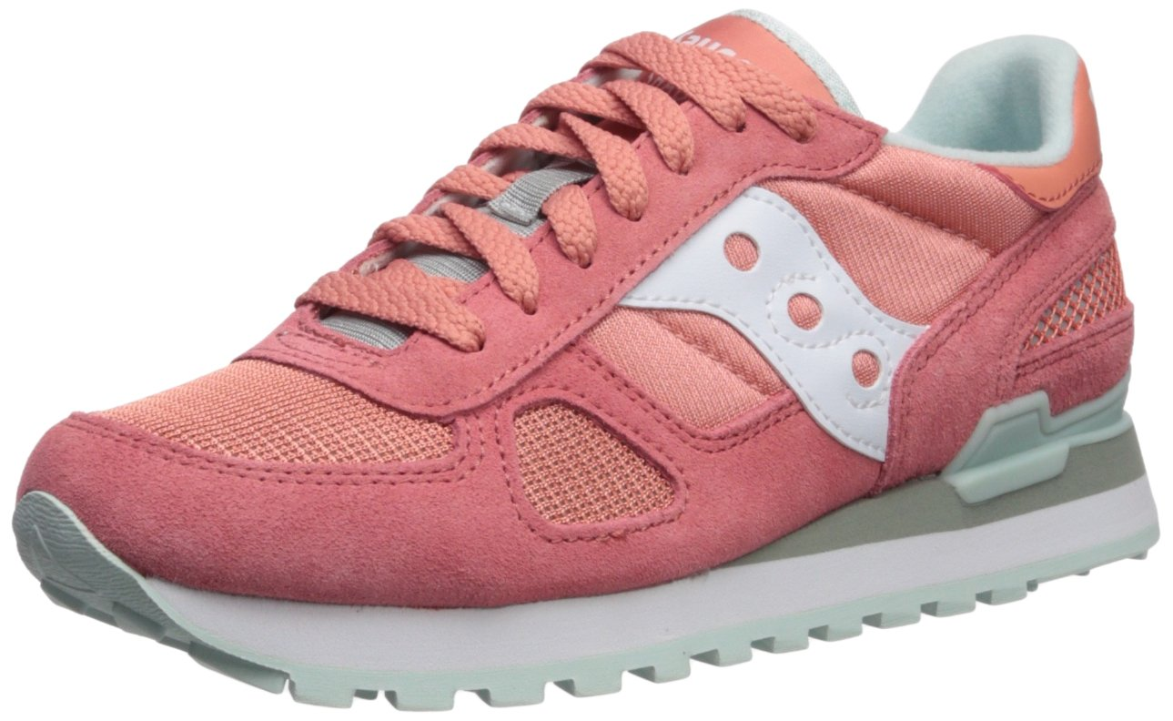 Saucony Originals Women's Shadow Original Running Shoe B071ZZMMPF 7.5 B(M) US|Pink/White
