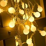 LOHAS 40LEDS Globe Lichterkette, Innen Deko Glühbirne 5Meter, LED  Lichterkette Warmweiß, 5V,