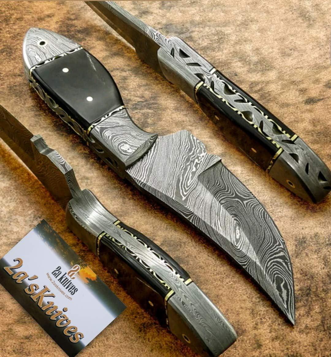 Custom hand made Damascus steel hunting Skinner knives lot of ten 10 SK 212