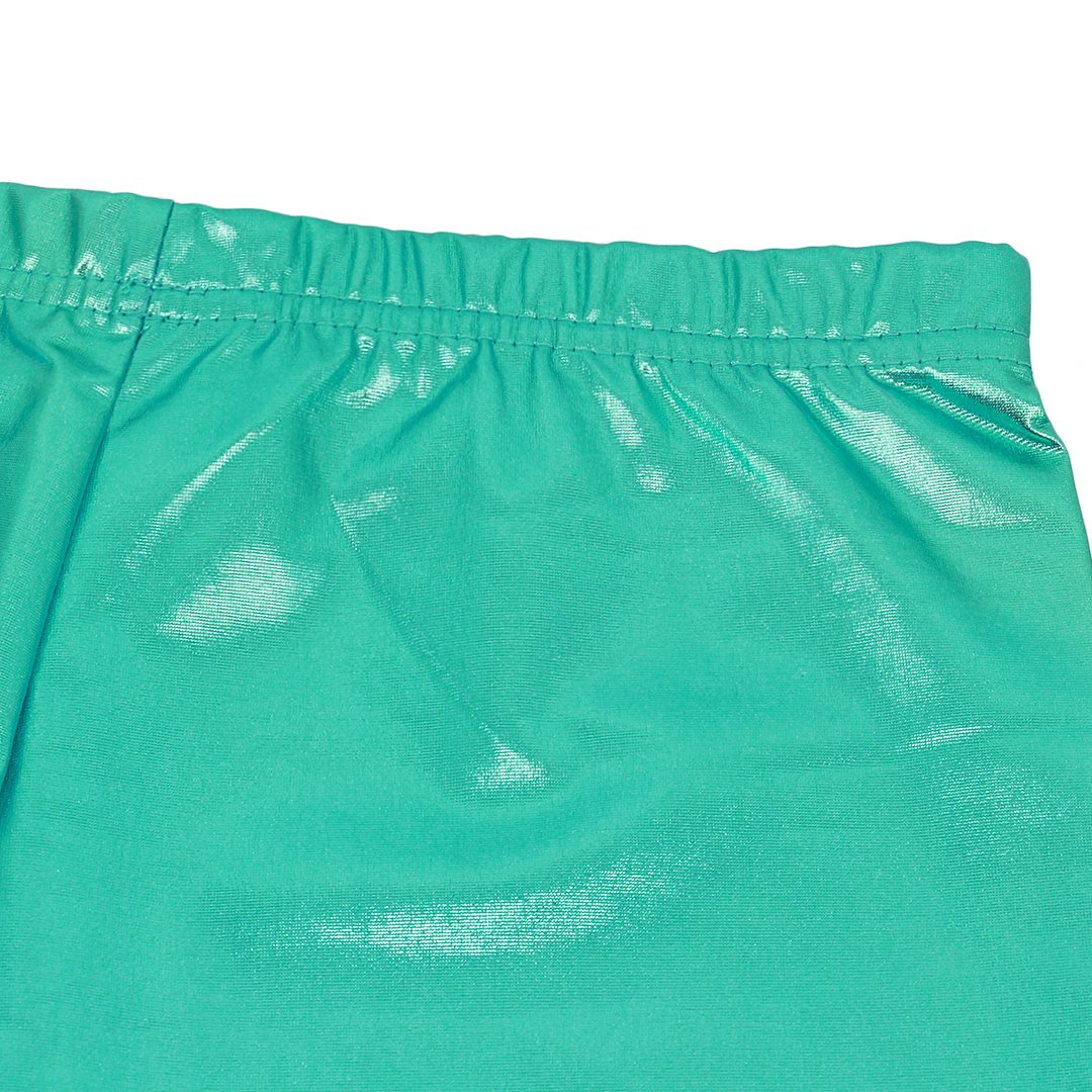 Mocure Shiny Metallic Booty Shorts High Waisted Wet Look Shorts Mini Shorts for Women